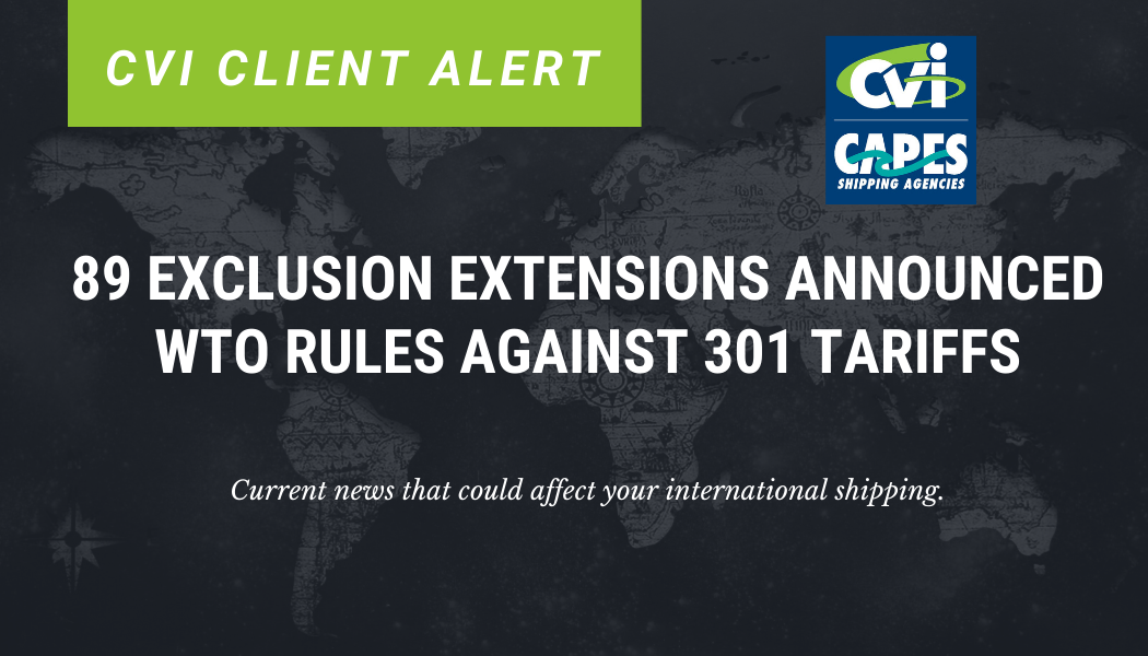 CLIENT ALERT: Exclusions extension for 89 products.